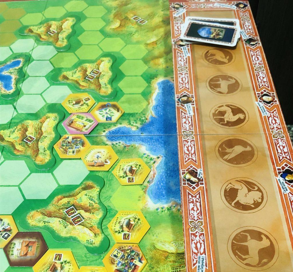 ボードゲームラチッタのメインボード画像。