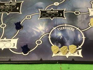 ボードゲームタイランツオブジアンダーダークのメインボード画像