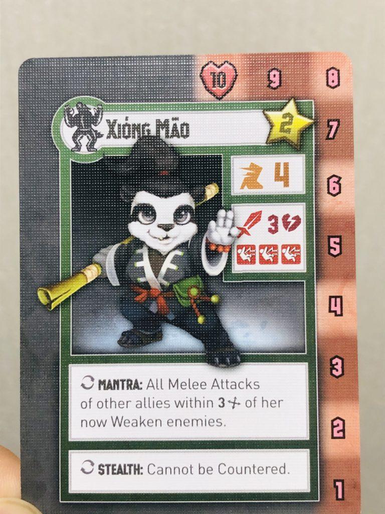 タイニーエピックタクティクスのユニットカード、XONGMAOくん