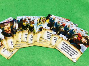 ボードゲーム『スマッシュアップ拡張』の陣営のカード一覧画像。